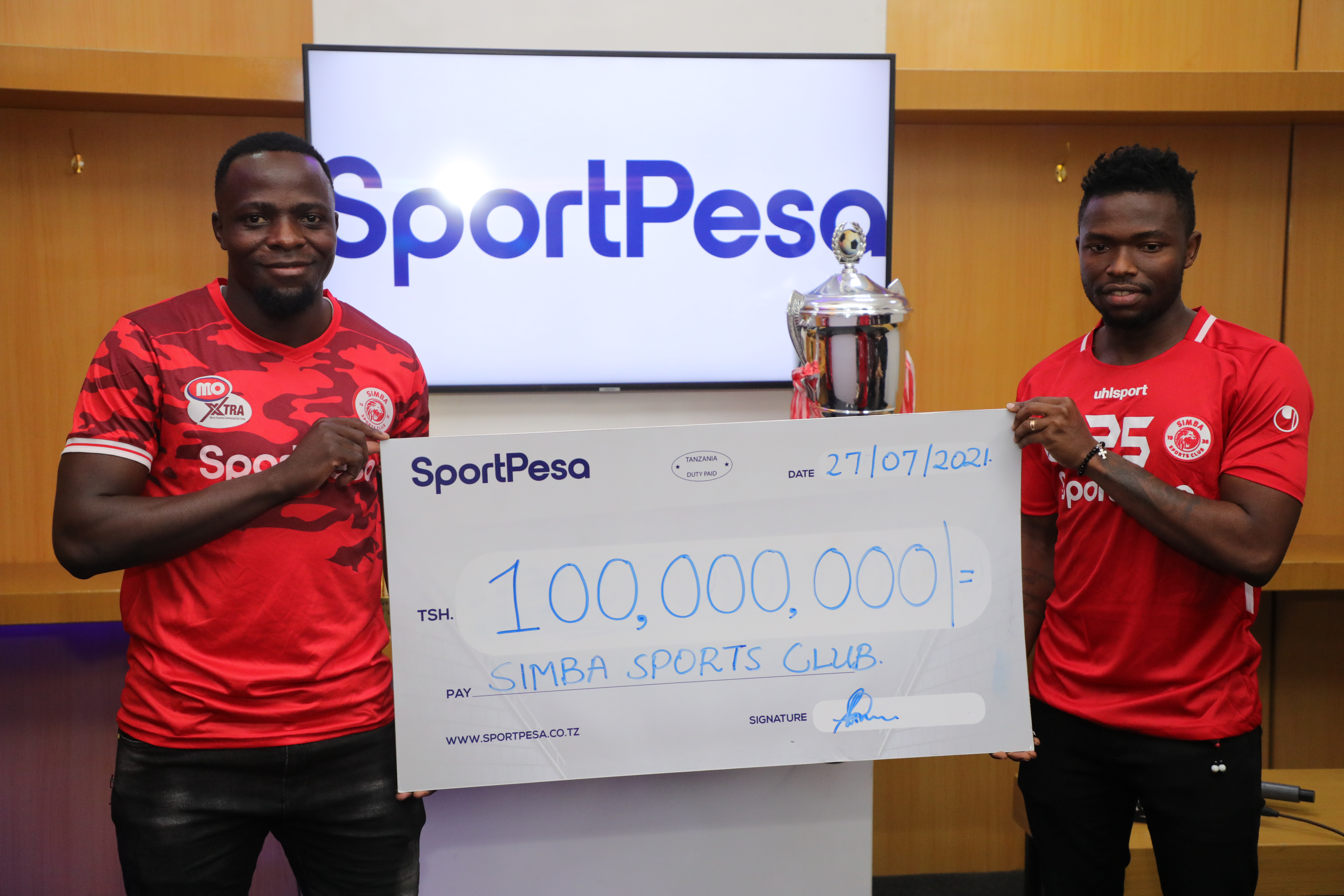 SportPesa Yaizawadia Simba SC Milioni 100!